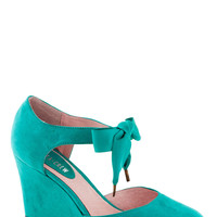 Live for Today Wedge in Teal
