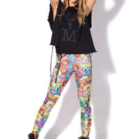 Donut Neon Leggings | Black Milk Clothing