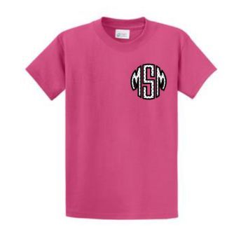Monogrammed Applique Short Sleeve T-Shirt