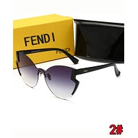 FENDI Summer Newest Women Men Shades Eyeglasses Glasses Sunglasses 2#