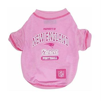 New England Patriots Pink Dog T-Shirt