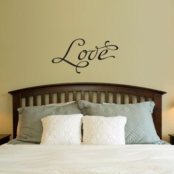 Love Wall Decal - Love Quote Decal - Bedroom Wall Decal - Medium