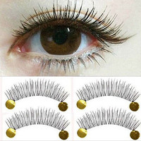 10 Pairs Makeup False Eyelashes Soft Cross Long Eye Lashes Extension