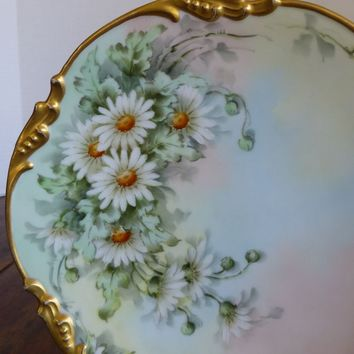 Antique Jean Pouyat Limoges France Hand Painted Plate