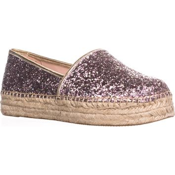 kate spade new york Linds Too Platform Espadrilles, Rose Gold Multi, 8 US