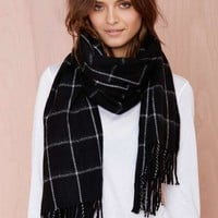 Get in Line Cashmere Scarf - Black