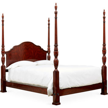 Theodore Alexander, Sepia Middleton 4-Poster Bed, Queen, Four Poster Beds