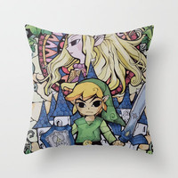 Zelda Throw Pillow by Daniel Vasilescu | Society6