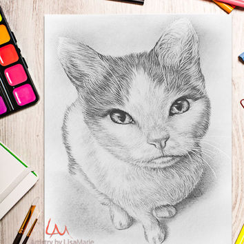 Printable coloring page, Adult Coloring Page, Instant download coloring, Cat coloring page, coloring, coloring book for adult, gray scale