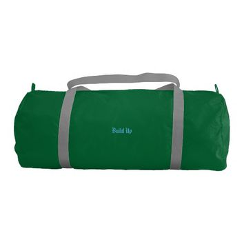 Custom Duffle Gym Bag, Green Duffle Bag