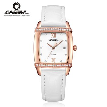 CASIMA Luxury Brand Women Watches Montre Femme Fashion Leather Ladies Quartz Watch Women Waterproof Female Relojes 2619