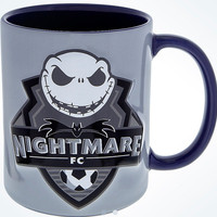 Disney Parks Jack Skellington Nightmare FC Soccer Ceramic Coffee Mug New