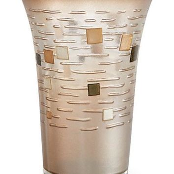 TUMBLER Croscill Mosaic Tumbler Glass Bronze Color