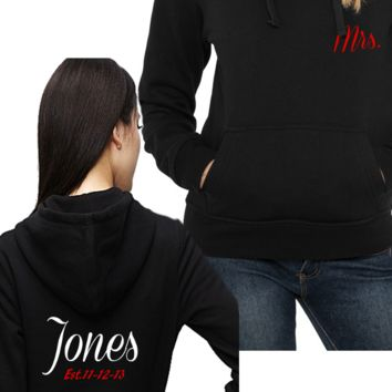 2 Personalized Couples Matching Couples Hoodies