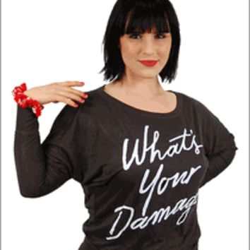 Heathers the Musical - What's Your Damage Ladies Slouch T-Shirt