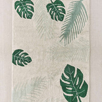 Tropical Greens Washable Rug | Urban Outfitters