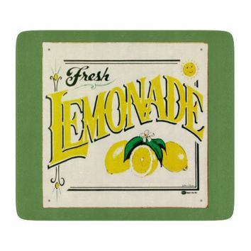 Vintage fresh lemonade sign cutting board