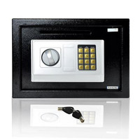 Electronic Safe Box with Mechanical Override, Includes Keys