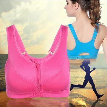 Women Gym Yoga Push Up Breathable Shake proof Fitness Running Sport Bras Professional Absorb Sweat Top Athletic Running Bra 3805