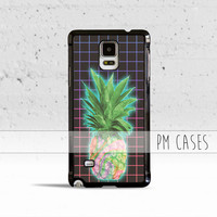 Aesthetics Pineapple Grid Case Cover for Samsung Galaxy S3 S4 S5 S6 Edge Active Mini or Note 1 2 3 4 5