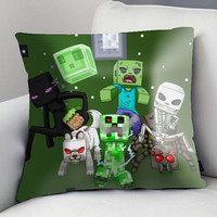 Minecraft Cute Custom pillow case size for 18 x 18 inch, 16 x 16 inch, 20 x 30 inch, 20 x 26 inch, 20 x 36 inch two side