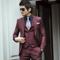 Men's Slim Fit Business Formal Wear Suit
