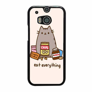 pusheen the cat eat everything case for htc one m8 m9 xperia ipod touch nexus