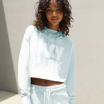 Ivy Park Raw Edge Cropped Hoodie at PacSun.com - mint | PacSun