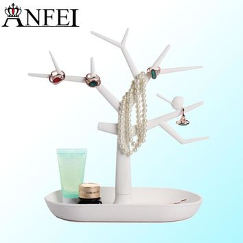 Jewelry Tree multifunctional tree branch shape White jewelry display earring bracelet necklace ring display stand anfei