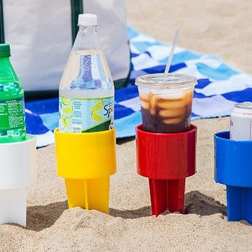Sand Drink Holders Set of 4 by Spiker | The Grommet