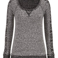 pullover with ethnic sleeves