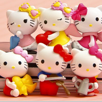 Naruto Fashion Cute Baby Kt for Cat Kids Toys for Birthday Christmas Gift Cartoon Diy for Hello Kitty Doll Model Toy Figures