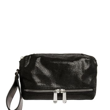 ASOS Leather Clutch Bag With Wrist Loop