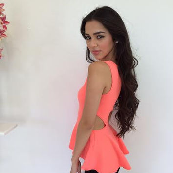 Neon Cutout Flared Top