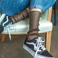 Shiny Chaussette Girl Sexy Meia Sokken In The Net Yarn Fishnet Sock Kapron Paragraph Hollow Ankle Women Socks Meias Calcetines