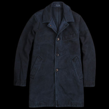 UNIONMADE - BLUE BLUE JAPAN - Big Stitch Sashiko Coat in Indigo