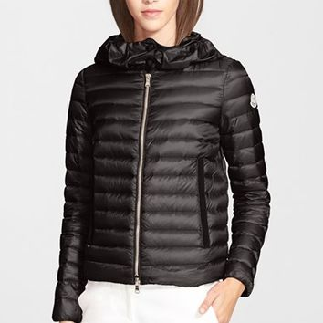 Women's Moncler 'Villaret' Hooded Down Coat