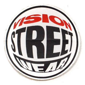 Vintage 80s Vision Street Wear Fisheye Skater New Old Stock Unpeeled Brand New Sticker