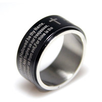 Black Ion Lords Prayer Spinner Ring 6-9