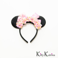 Baby Minnie Mouse Ears Headband, Disney Baby Shower, Disney Baby Girl, Disney Mom, Disney Mommy, Minnie Mouse Ears, Minnie Ears, Disney Ears