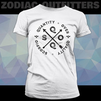 SCORPIO / Zodiac / Astrology  / Dark Side / White Ladies Graphic Tee Shirt