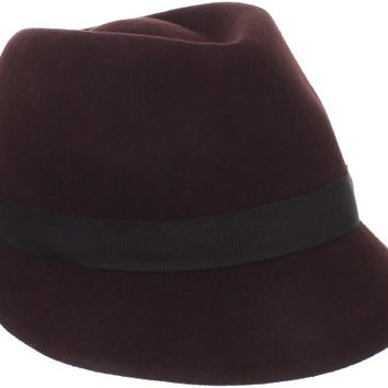 San Diego Hat Women's 100% Wool Fedora Hat with Feather, Chocolate, One Size