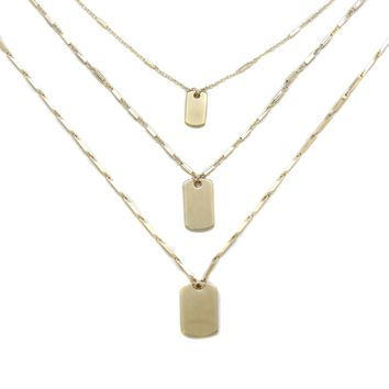 Find your Tribe Layered Necklace in Gold