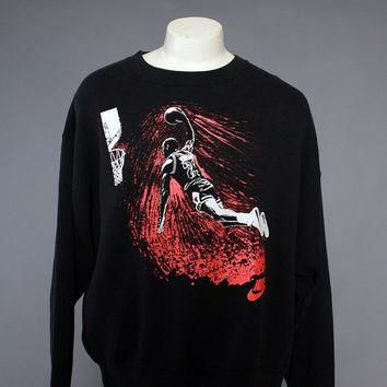 Vintage 90s NIKE Air Jordan SWEATSHIRT / 1990s Slam Dunk Graphic Print
