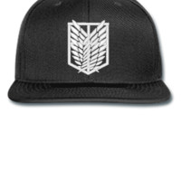 ATTACK ON TITAN white Bucket Hat - Snapback Hat