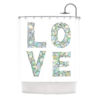 "Kess Inhouse Skye Zambrana ""Four Letter Word"" Shower Curtain 