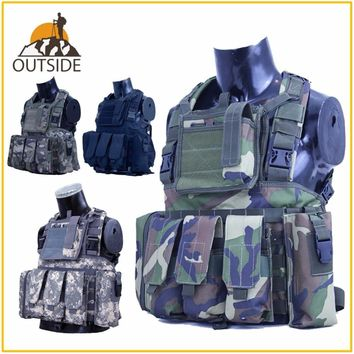 RRV Tactical Vest Molle Airsoft Combat Vest W/Magazine Pouch Releasable Armor Plate Carrier Strike Vests Hunting Clothes Gear