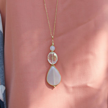 Skipping Stones Necklace- Cloud