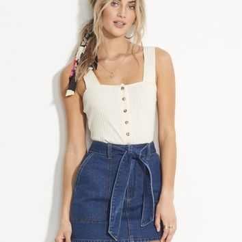 Live Simple Denim Skirt