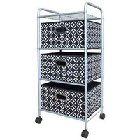 Bin, Trolley, Trunk, and Ottoman Storage Collection in Black/White